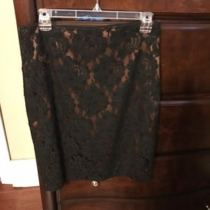 Talbots Lace Pencil Skirt Size 4